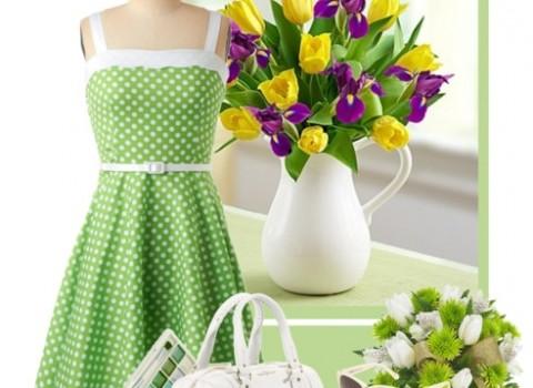Цвет летнего луга! С чем носить зеленое платье?
